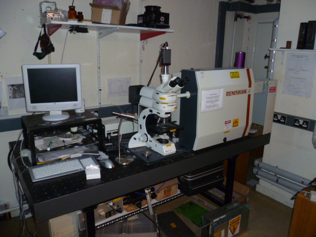Renishaw Ramascope System 2000 Raman with He Ne and Ar ion lasers