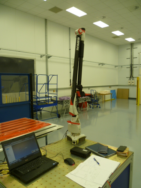 Romer arm with laser scanner